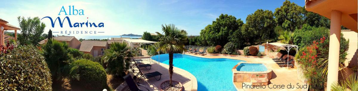 Ferienhaus in Pinarellu mit Pool und Meerblick